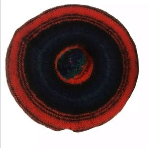 Vtg The Scotch House Wool Beret Red Mclauchlan